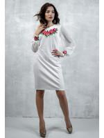 Сукня «Подих троянди» молочно-білого кольору