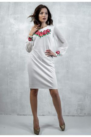Сукня «Подих троянди» молочного кольору