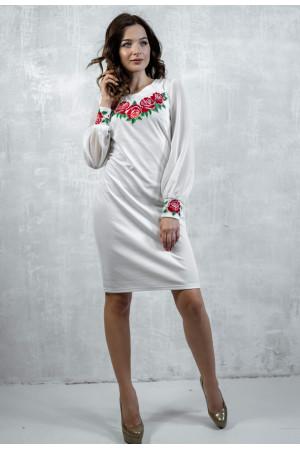 Платье «Дуновение розы» молочного цвета