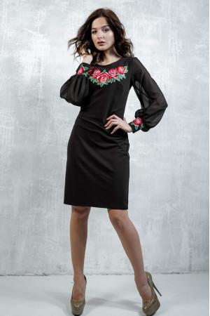 Сукня «Подих троянди» чорного кольору