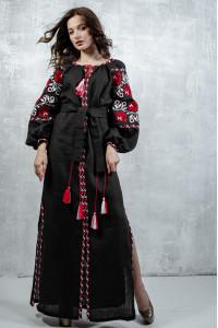 Сукня «Чарівність» чорного кольору, довга
