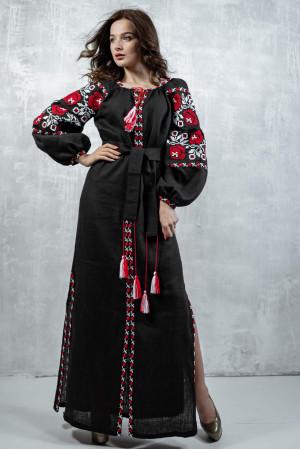 Платье «Очарование» черного цвета, длинное