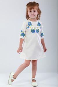 Платье для девочки «Васильковые мечты» серого цвета