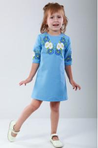 Платье для девочки «Васильковые мечты» голубого цвета
