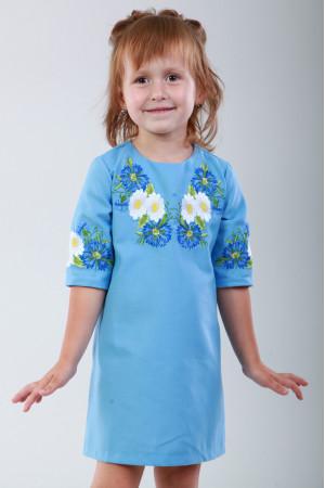 Сукня для дівчинки «Волошкові мрії» блакитного кольору