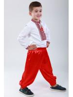 Шаровари для хлопчика червоного кольору
