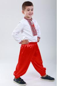 Шаровары для мальчика красного цвета