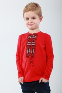 Футболка для хлопчика «Кольорова» червоного кольору