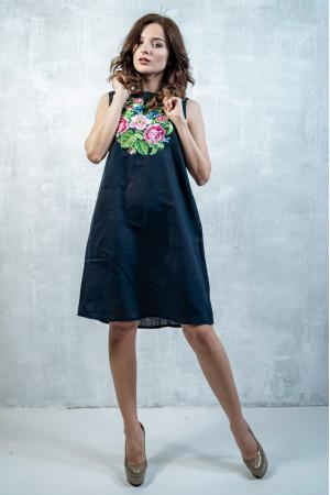 Платье «Звуки лета» темно-синего цвета