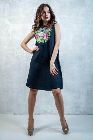 Сукня «Звуки літа» темно-синього кольору