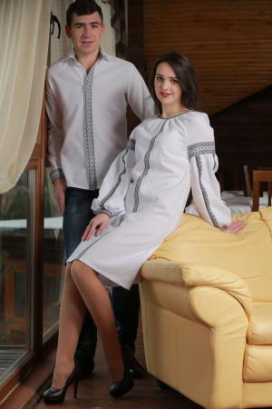 Сімейний комплект «Димка»: сукня та чоловіча вишиванка
