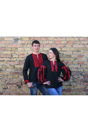 Комплект вышиванок для женщины и мужчины «Вышитая дорожка»