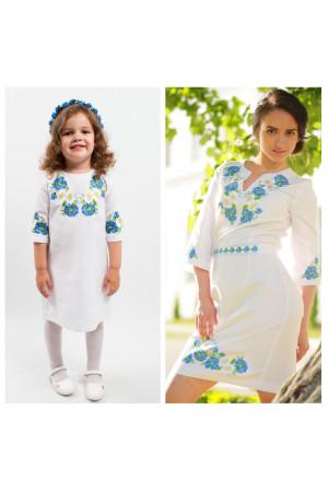 Семейный комплект для мамы и дочери «Васильковые мечты»