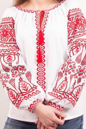 Вишиванка «Розкіш» з червоним орнаментом