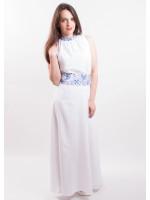 Платье «Романтика» белое с синим