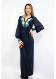Сукня «Волошкові мрії» синього кольору довга