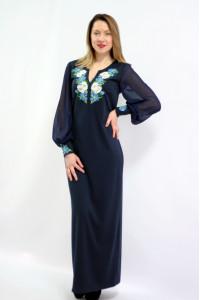 Платье «Васильковые мечты» синего цвета длинное