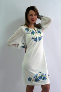 Сукня «Волошкові мрії» молочного кольору