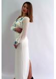 Сукня «Волошкові мрії» молочно-біла довга