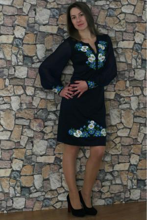 Сукня «Волошкові мрії» синього кольору середньої довжини
