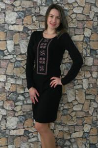 Платье «Феерия» черное с розовым