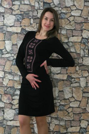 Сукня «Феєрія» чорна з рожевим