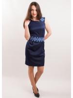 Платье «Мечта» с синим орнаментом