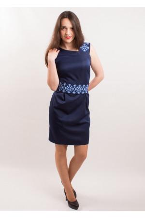 Сукня «Мрія» з синім орнаментом