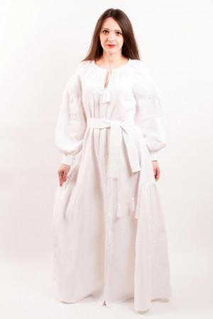Платье «Украинская традиция» с белой вышивкой
