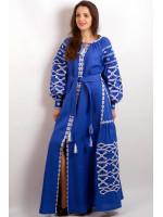 Платье «Грация» синего цвета