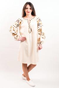 Платье «Очарование» молочного цвета