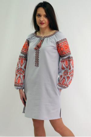 Платье «Роскошь» серого цвета