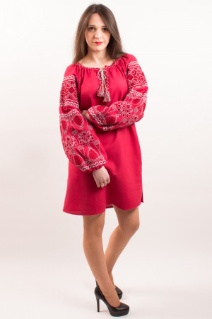 Платье «Роскошь» вишневого цвета