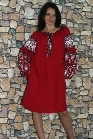 Платье «Роскошь» красного цвета