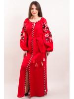 Платье «Очарование» красного цвета, длинное