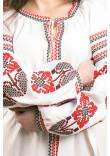 Сукня «Квіткова фантазія» білого кольору, довга