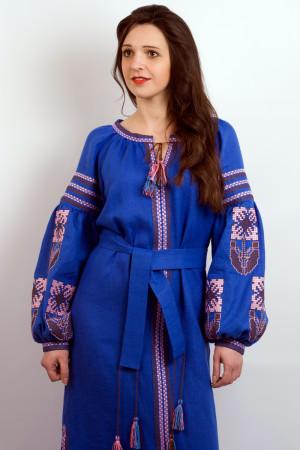 Сукня «Квіткова фантазія» синього кольору