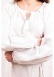 Сукня «Квіткова фантазія» з білою вишивкою, довга