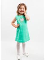 Платье для девочки «Улыбка розы» мятного цвета
