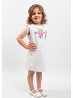 Платье для девочки «Улыбка розы» белого цвета