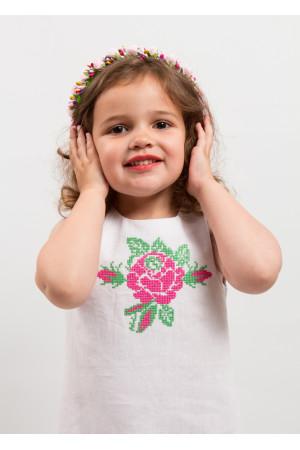 Сукня для дівчинки «Посмішка троянди» білого кольору