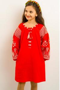 Платье для девочки «Роскошь» красного цвета