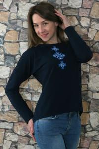 Свитшот «Мечта» с синей вышивкой