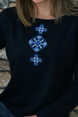 Світшот «Мрія» з синьою вишивкою