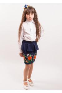 Юбка для девочки «Фантазия с бабочкой»