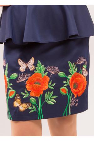 Спідниця для дівчинки «Фантазія з метеликом»