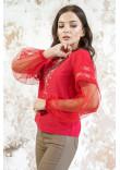 Вишиванка «Симфонія» червоного кольору