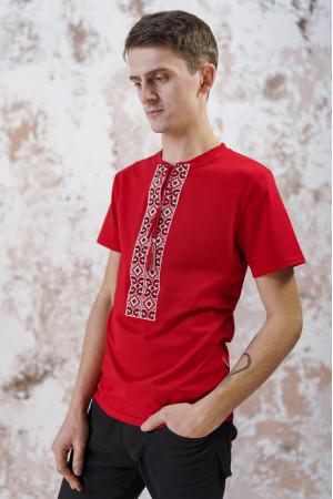 Футболка «Лабиринт» красного цвета