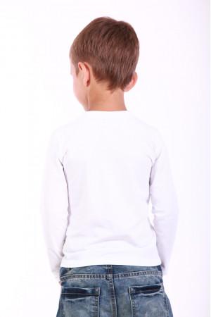 Футболка для хлопчика «Кольорова» біла з синім