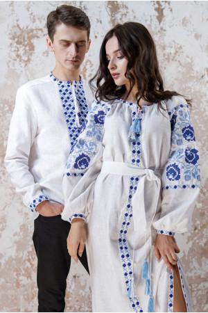 Вишитий комплект для пари «Чарівність» білого кольору